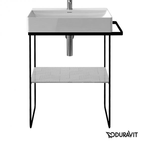 Duravit DuraSquare floorstanding metal console for washbasins matt black