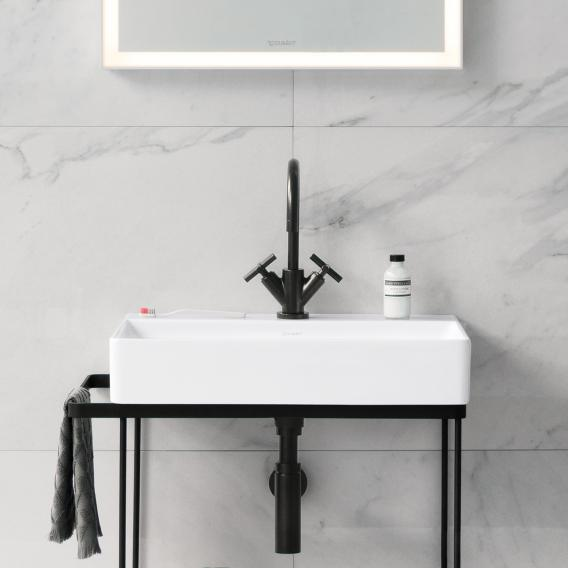 Duravit DuraSquare washbasin white, with WonderGliss, with 1 tap hole, ungrounded