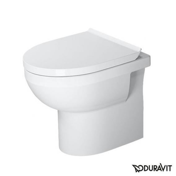 Duravit DuraStyle Basic floorstanding washdown toilet set, rimless, with toilet seat white, with WonderGliss