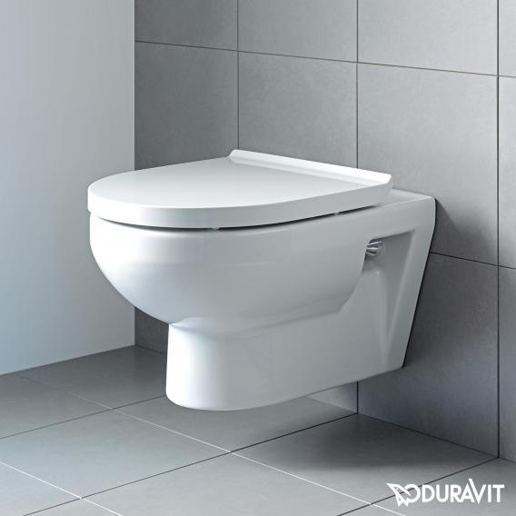 Duravit DuraStyle Basic wall-mounted washdown toilet set, rimless, with toilet seat white