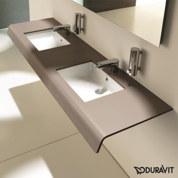 Duravit DuraStyle countertop for 2 countertop wasbasins / drop-in washbasins dark chestnut