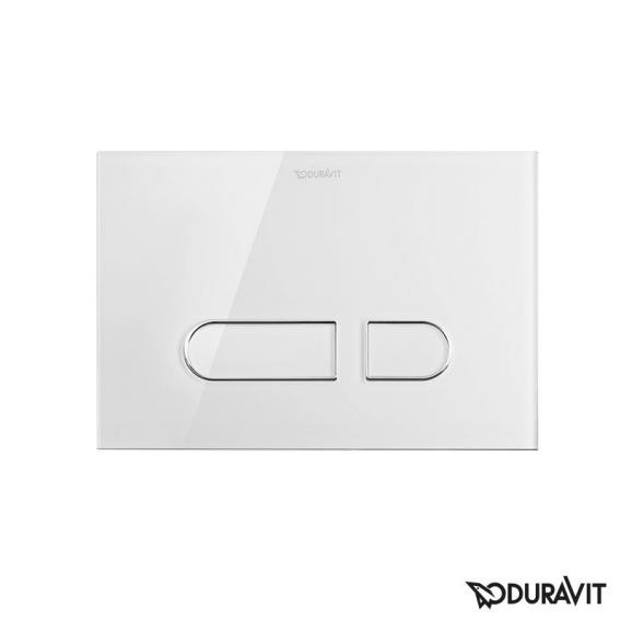 Duravit DuraSystem flush plate A1 for toilet, glass white/white