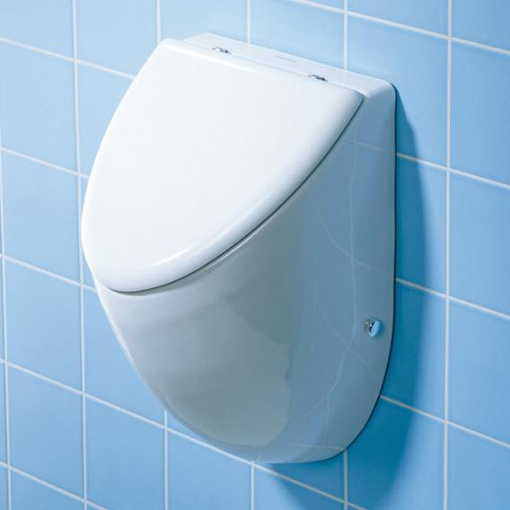 Duravit Fizz urinal, rear supply white, with Wondergliss, with lid mounting