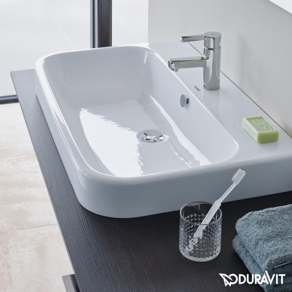 Duravit Happy D.2 console back-to-wall for countertop basin white high gloss