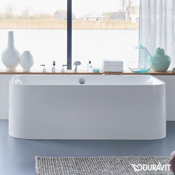 Duravit Happy D.2 rectangular bath with panelling, back-to-wall