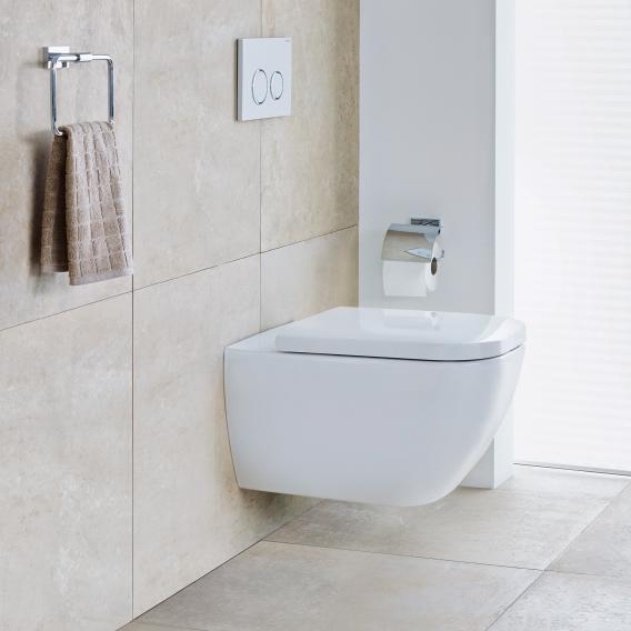 Duravit Happy D 2 Wall Mounted Washdown Toilet With Toilet Seat Rimless White 2222090000 0064590000 Reuter