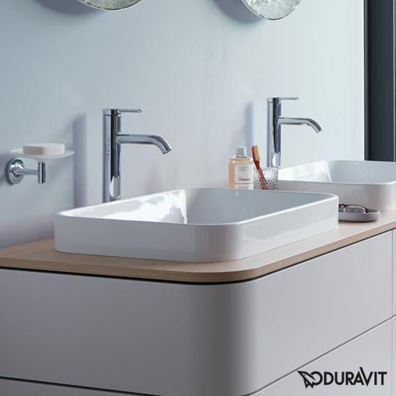 Duravit Happy D.2 Plus countertop washbasin white, with WonderGliss