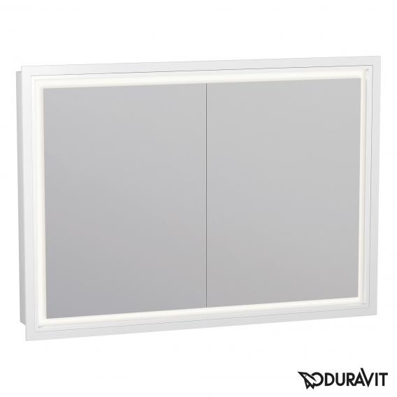 Duravit L-Cube mirror cabinet with LED lighting, 2 doors hinged left/right