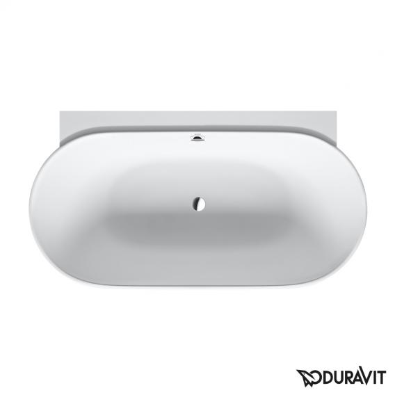 Duravit Luv back-to-wall bath with panelling without deck-mounted drilled hole