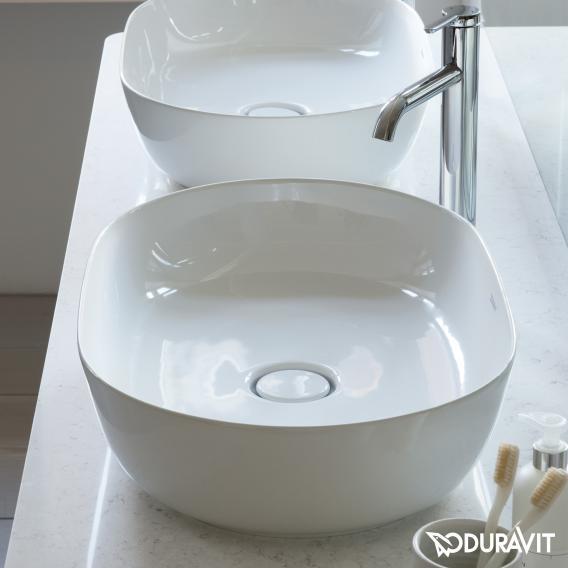 Duravit Luv countertop washbasin white, with WonderGliss