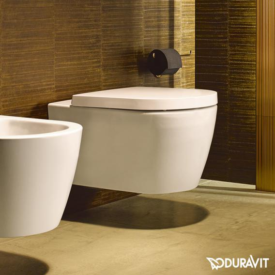 Duravit ME by Starck compact toilet seat matt white, with soft-close