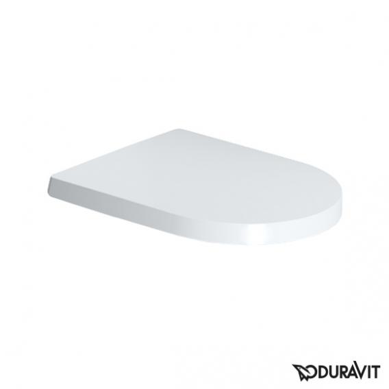Duravit ME by Starck compact toilet seat white, with soft-close