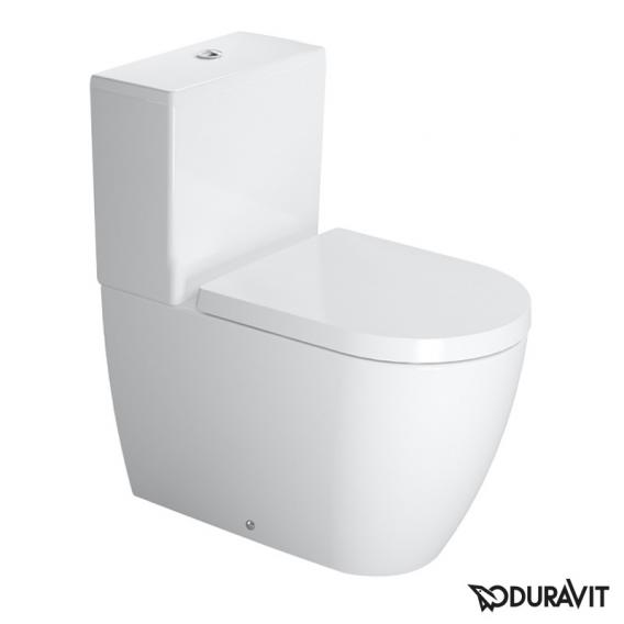 Duravit ME by Starck floorstanding close-coupled washdown toilet white, with WonderGliss