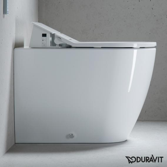Duravit ME by Starck floorstanding washdown toilet for SensoWash®, back to wall white