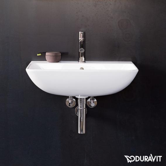 Duravit ME by Starck hand washbasin white, with WonderGliss, with 1 tap hole