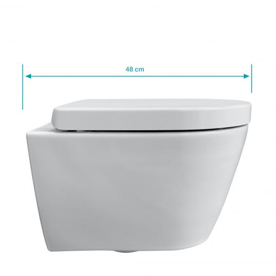 Duravit ME by Starck wall-mounted toilet & Tellkamp Premium 4000 toilet seat SET short: rimless toilet white