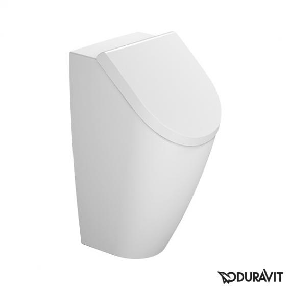 Duravit ME by Starck urinal, rimless white, with WonderGliss, with lid mounting, rear supply