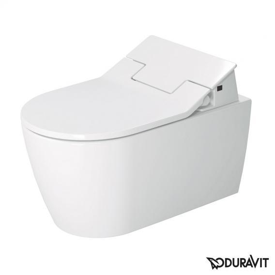 Duravit ME by Starck wall-mounted washdown toilet for SensoWash® rimless, white, with WonderGliss