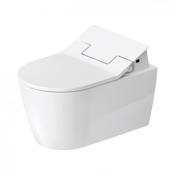 Duravit ME by Starck wall-mounted, washdown, toilet HygieneFlush with NEW SensoWash® Slim toilet seat, set