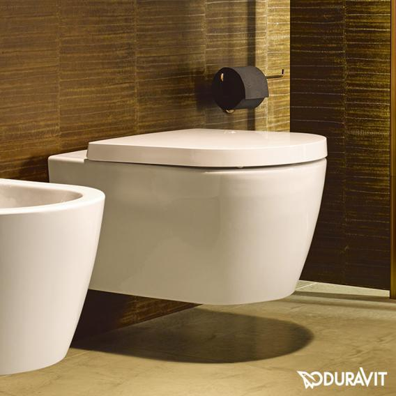 Duravit ME by Starck wall-mounted washdown toilet set, rimless, with toilet seat white