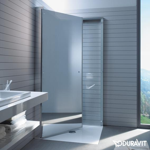 Duravit OpenSpace shower screen clear glass and mirrored glass / chrome