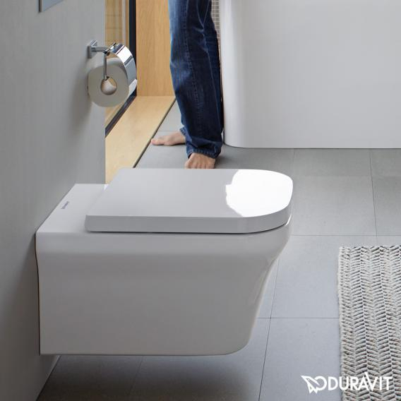 Duravit P3 Comforts wall-mounted, washdown toilet, rimless white, with WonderGliss
