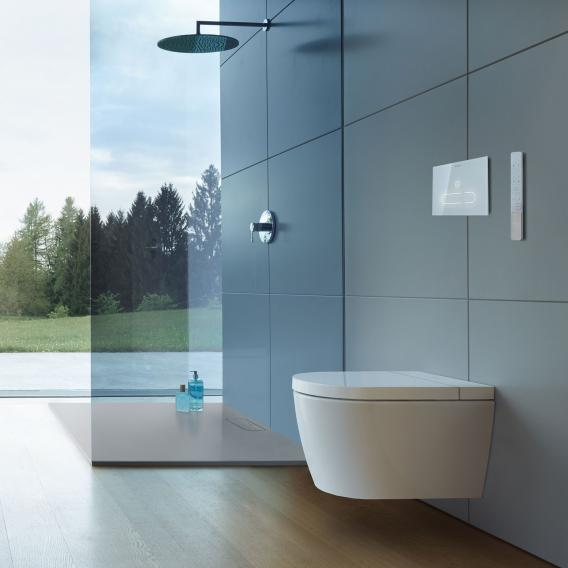 Duravit SensoWash® Starck f Plus Compact shower toilet complete system for wall mounting, with toilet seat without accessories