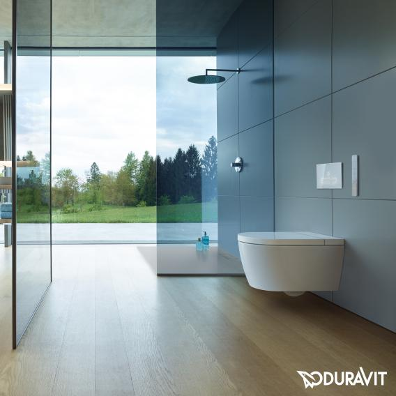 Duravit SensoWash® Starck f Plus compact shower toilet, with toilet seat