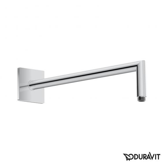 Duravit shower arm, angled with square escutcheon