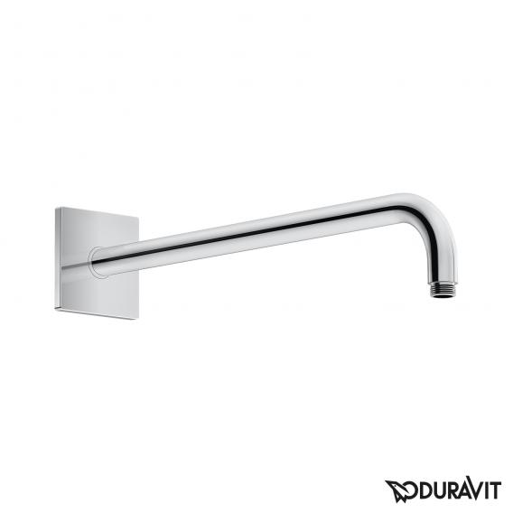 Duravit shower arm, curved with square escutcheon