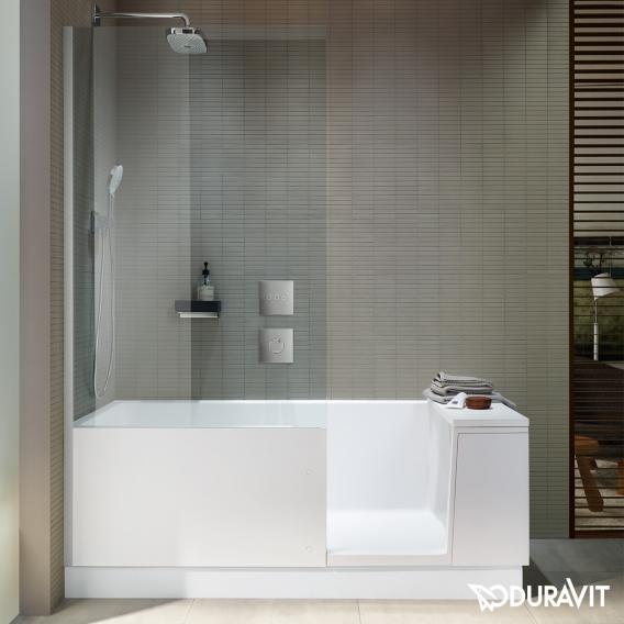 Duravit Shower + Bath bath with shower zone clear glass