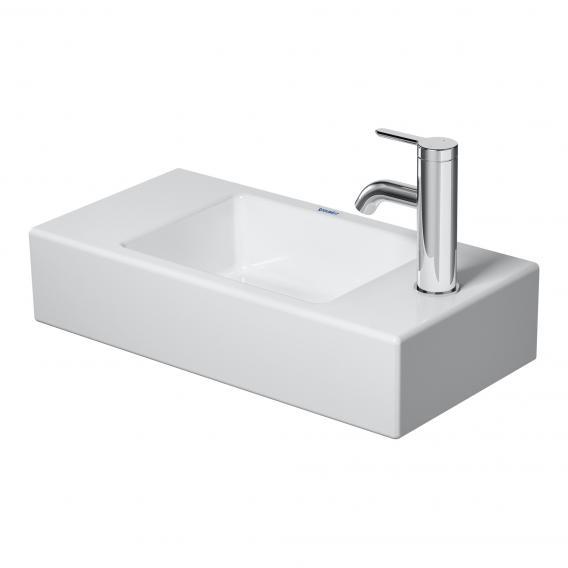 Duravit Vero Air hand washbasin weiß, mit WonderGliss, with tap hole right