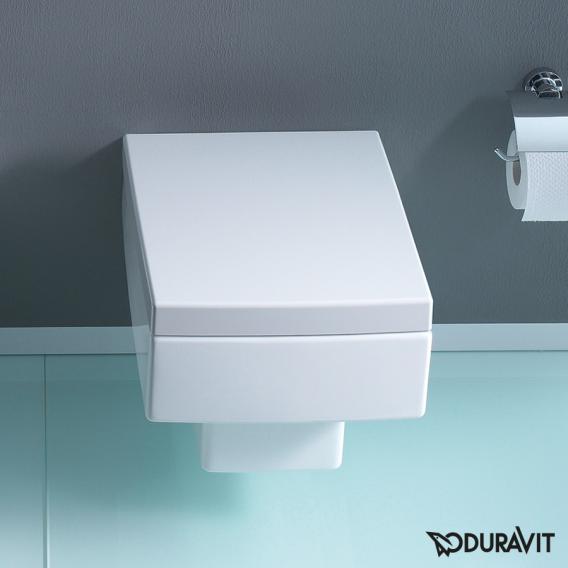 Duravit Vero wall-mounted washdown toilet white, with WonderGliss