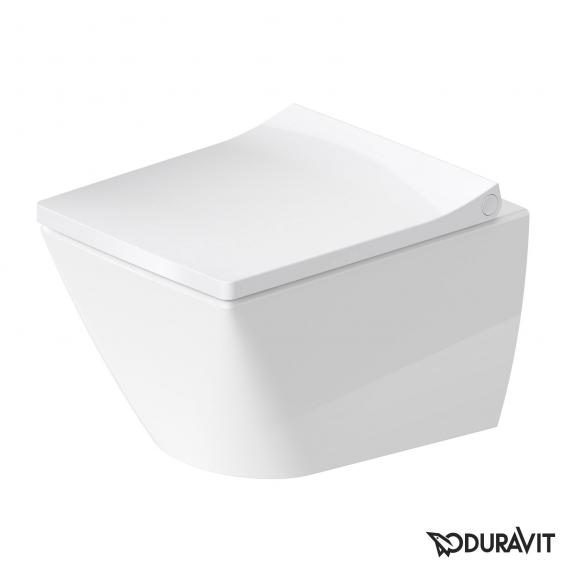 Duravit Viu Compact wall-mounted washdown toilet white, with WonderGliss