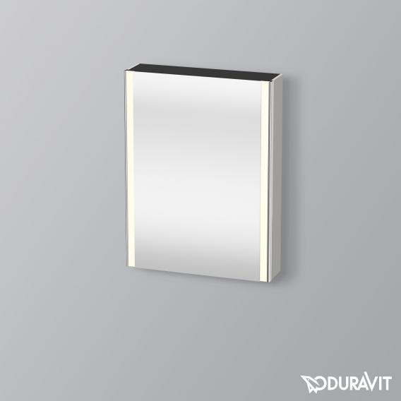 Duravit XSquare mirror cabinet with LED lighting and 1 door front mirrored / corpus matt concrete grey