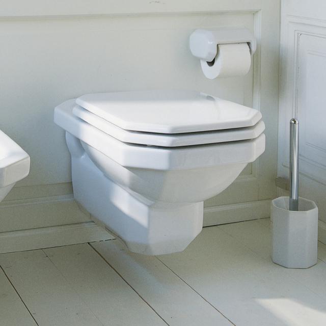 Duravit 1930 wall-mounted washdown toilet white, with WonderGliss