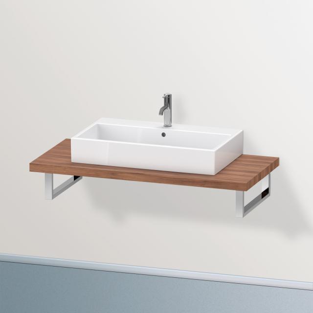 Duravit Brioso console for 1 countertop basin / drop-in basin natural walnut