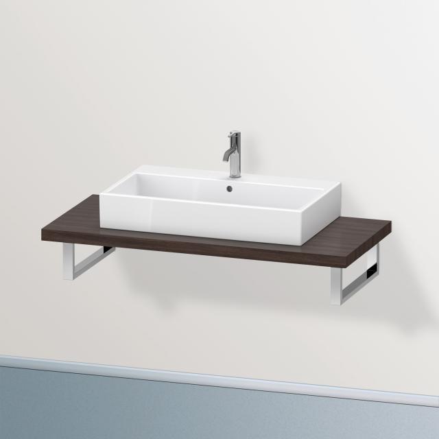 Duravit Brioso console for 1 countertop basin / drop-in basin dark chestnut