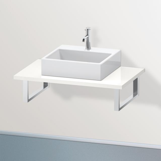 Duravit Brioso console for 1 countertop basin / drop-in basin white high gloss
