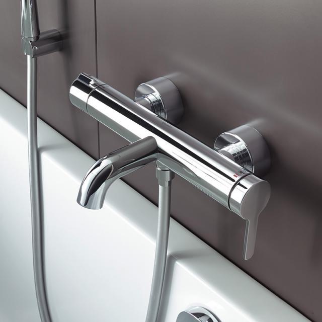 Duravit C.1 exposed, single lever bath mixer chrom