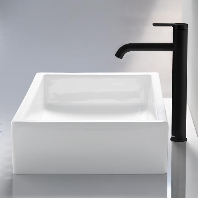 Duravit C.1 single lever basin mixer XL matt black, without waste set