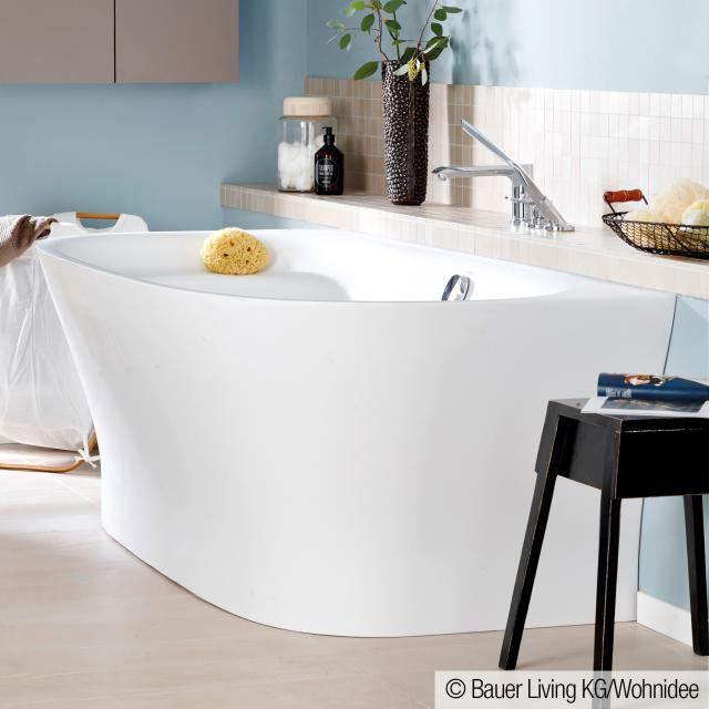 Duravit Cape Cod back-to-wall whirlbath with panelling with Air-System