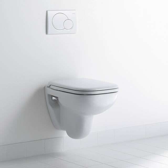 Duravit D-Code Compact wall-mounted washdown toilet white