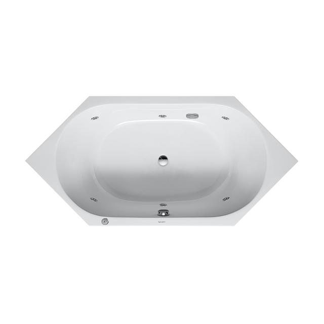 Duravit D-Code hexagonal whirlbath with Jet system, built-in with Jet-System