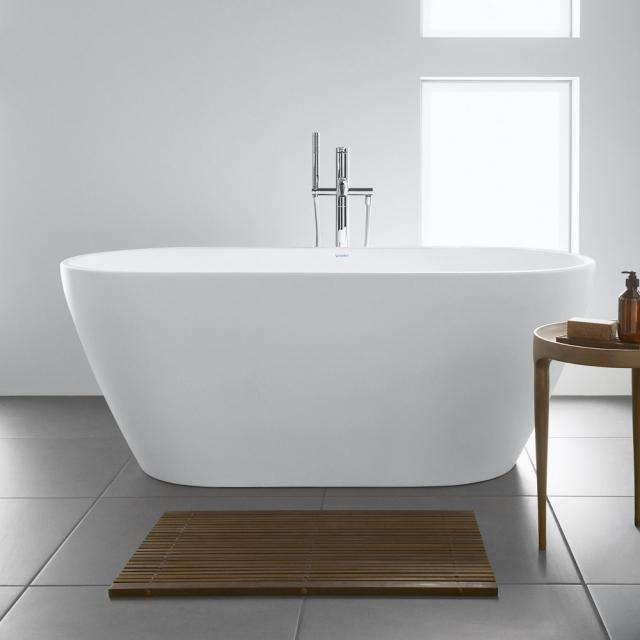 Duravit D-Neo freestanding oval bath white, with overflow