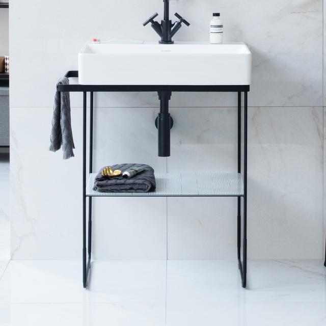 Duravit DuraSquare floorstanding metal console for Compact washbasins matt black