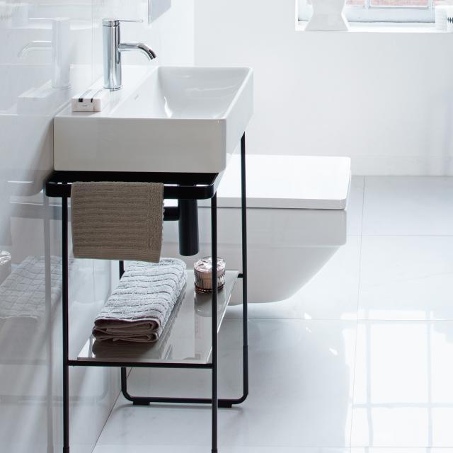 Duravit DuraSquare floorstanding metal console for hand washbasin 45 cm matt black