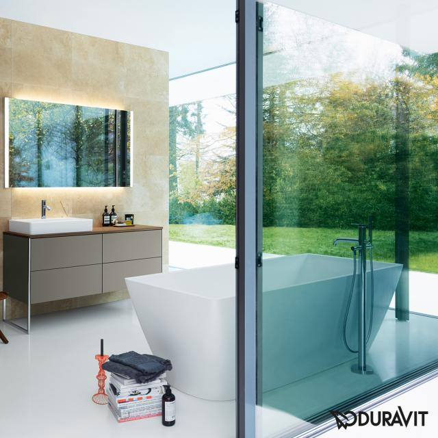 Duravit DuraSquare freestanding rectangular whirlbath with panelling with Air-System