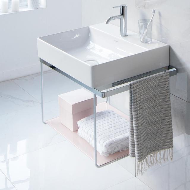 Duravit DuraSquare wall-mounted metal console for Compact washbasins chrome