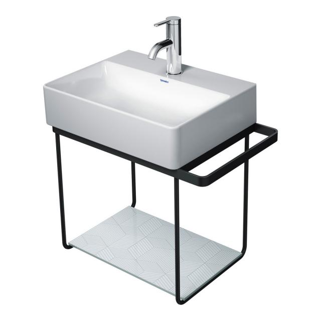Duravit DuraSquare wall-mounted metal console for hand washbasin 45 cm matt black